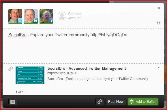 Social media marketing tools buffer