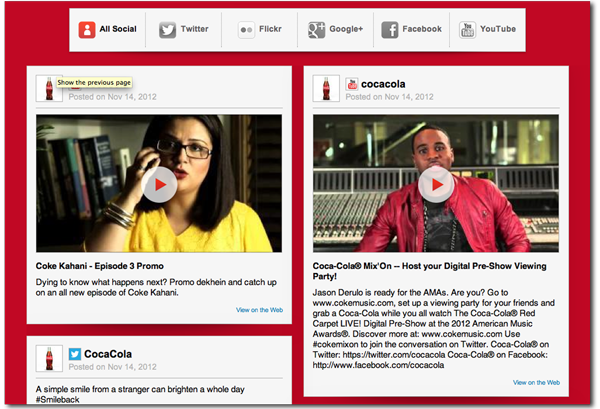 Coke Social Media Integration