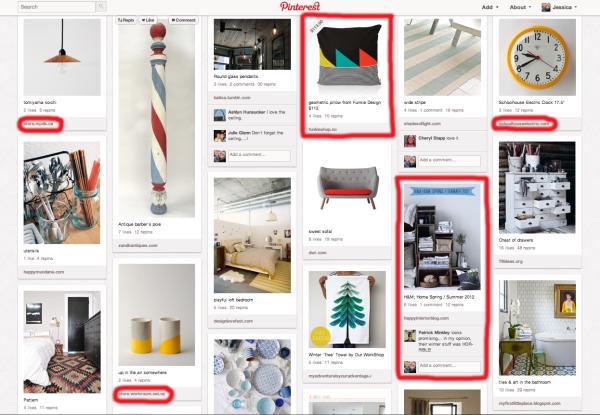 Pinterest key word search