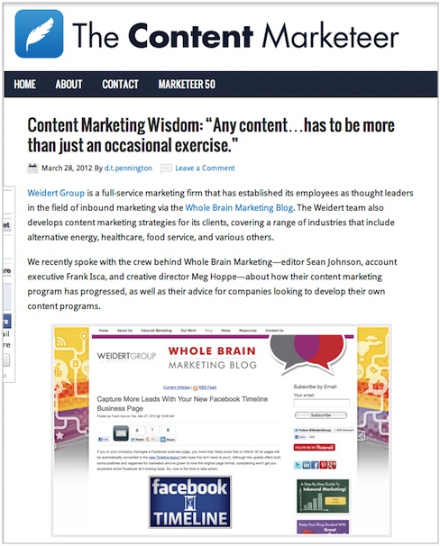 The Content Marketeer content marketing blog
