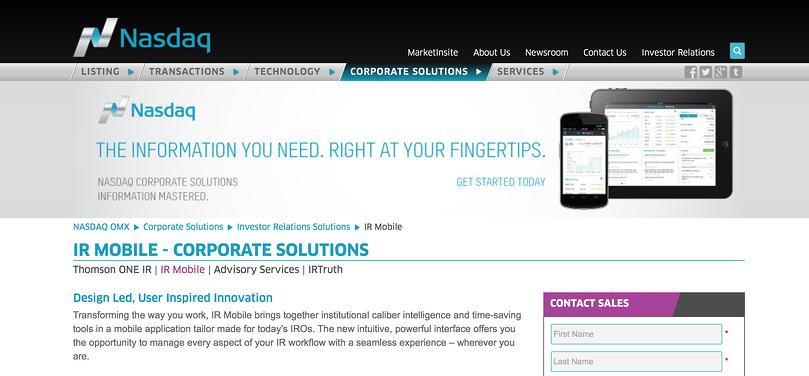 Nasdaq-website-screenshot