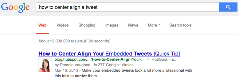 How-to-center-align-a-tweet
