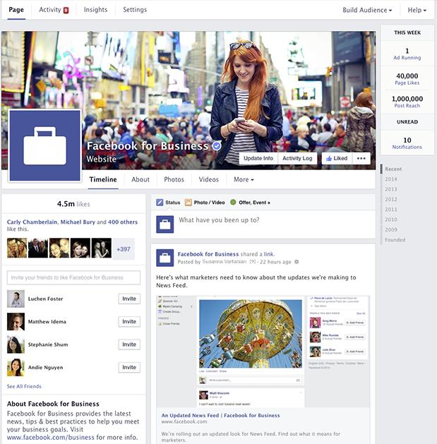 Facebook-Business-Timeline-Layout