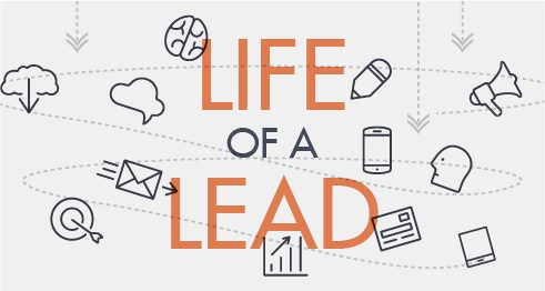 The life of a lead infographic