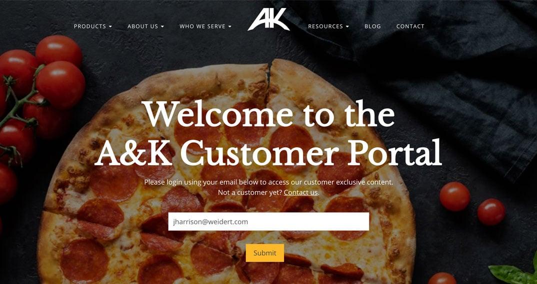Alive & Kickin' customer portal custom build