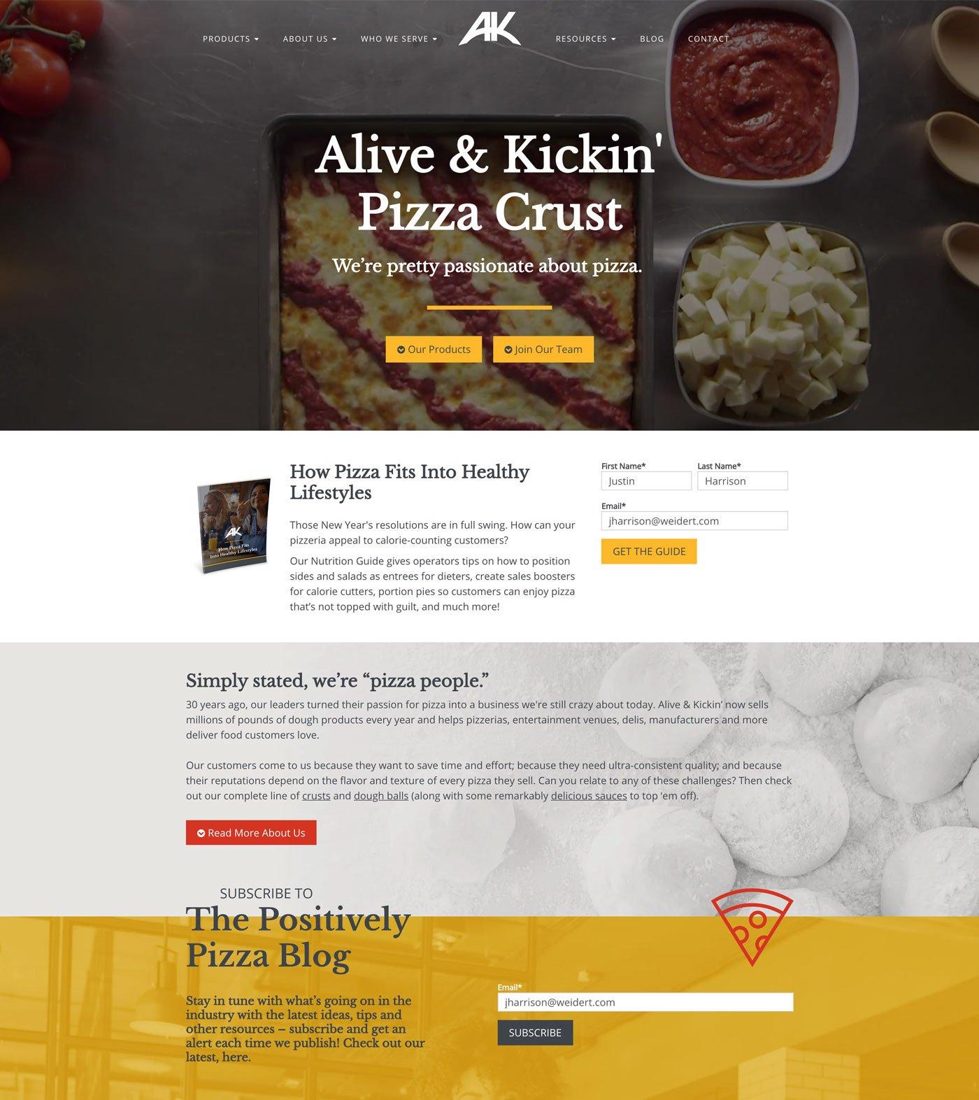 Alive & Kickin' home page