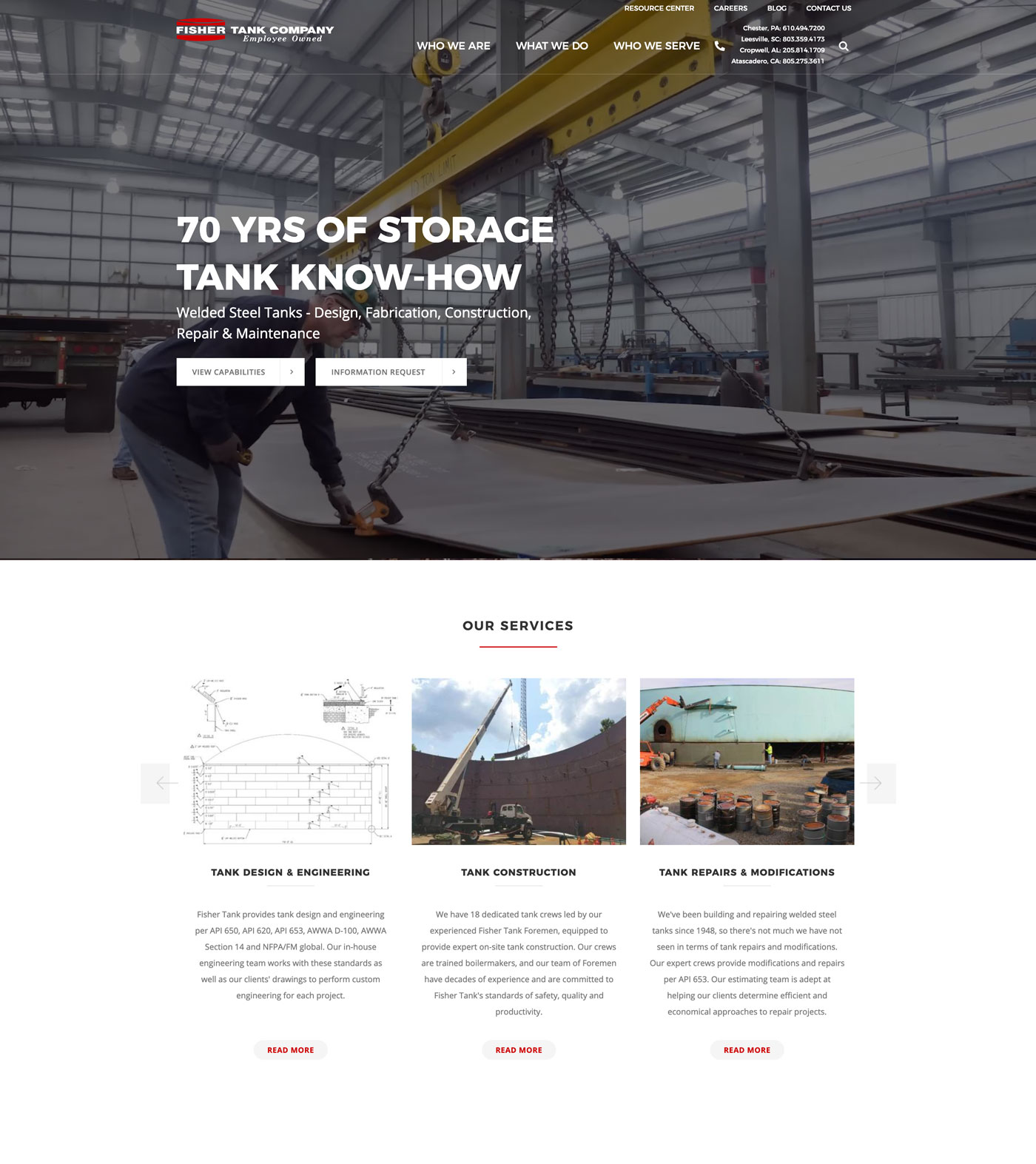 Fisher Tank home page