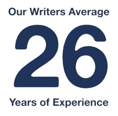 Weidert Writers 26 Years Average Experience