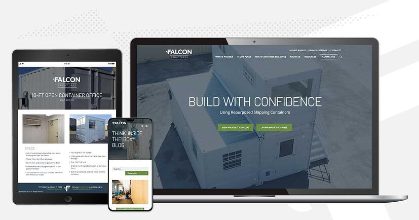 Falcon Structures website screenshots