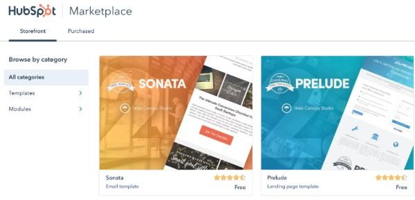 HubSpot web development marketplace