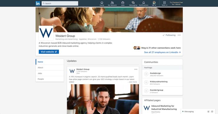 weidert-group-linkedin-page