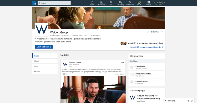 weidert-group-linkedin-page