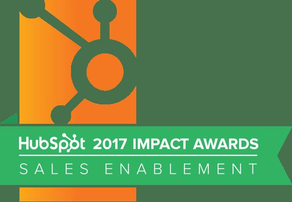 Hubspot Impact Awards 2017 Sales Enablement