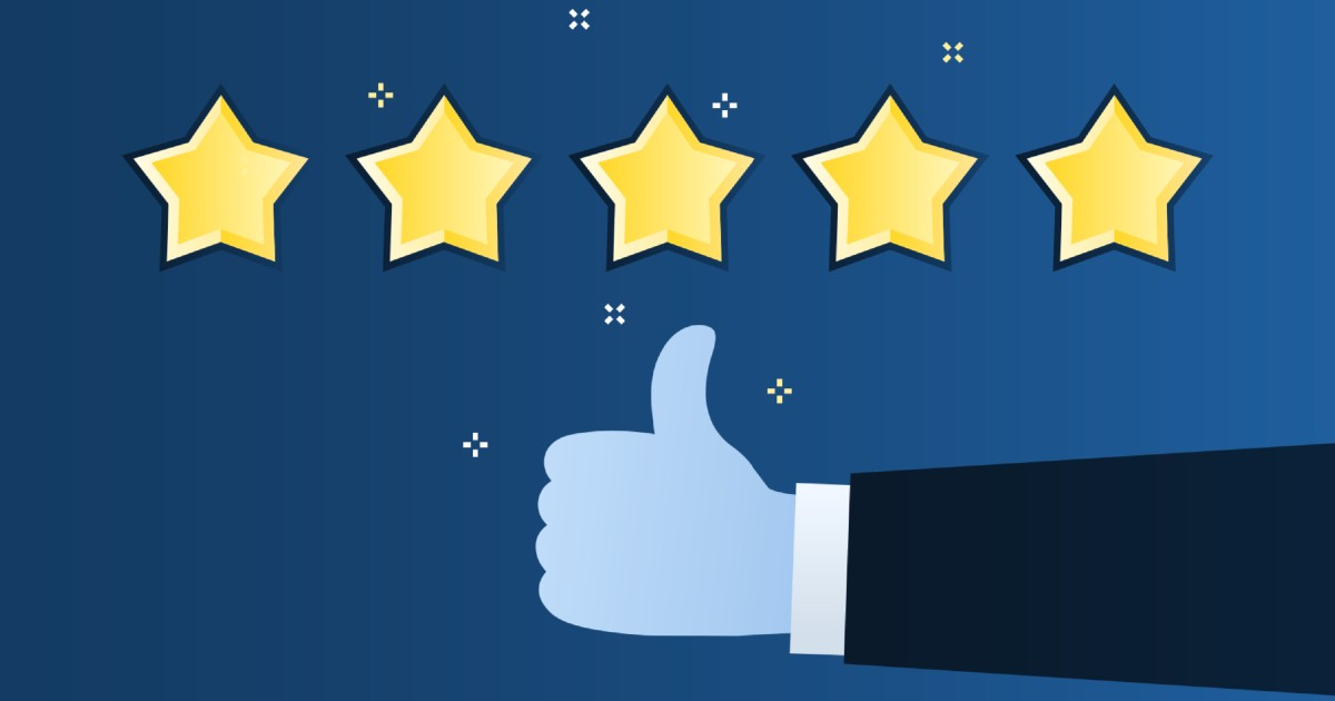 five star review of b2b company