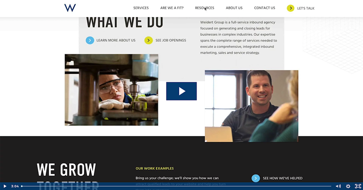 b2b website redesign how-to video