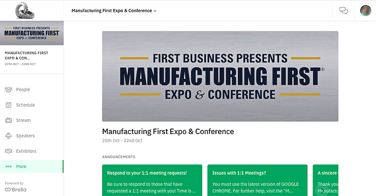 Industrial Trends from Manufacturing First 2020