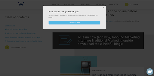 10x-pillar-page-uses-exit-intent-pop-up-to-increase-conversions