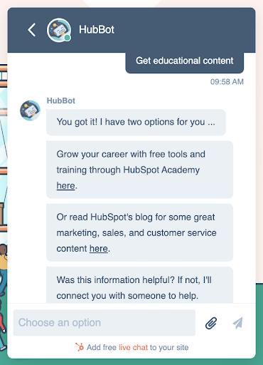 HubSpot-HubBot-Chat