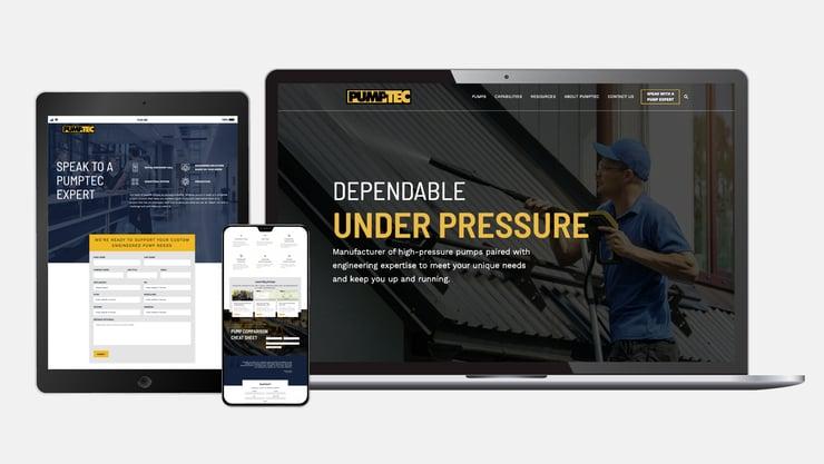pumptec's new website built on hubspot cms