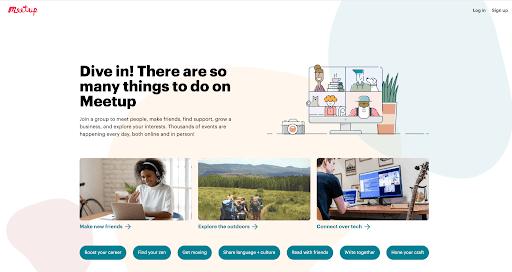 Meetup professional networking platform