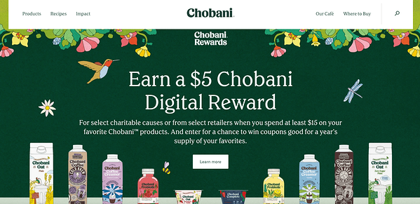 Screenshot-of-colored-negative-space-on-a-home-page-from-Chobani