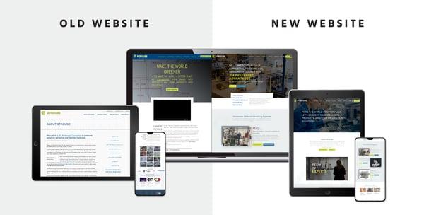 Strouse old vs new inbound website