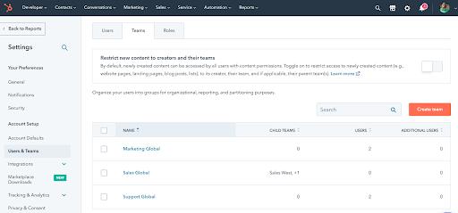 creating-teams-in-HubSpot-settings