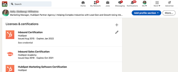 display-hubspot-certifications-on-your-linkedin-profile