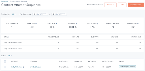 example-sales-sequence-performance-report