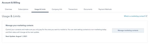 hubspot-marketing-contacts-account-&-billing-admin