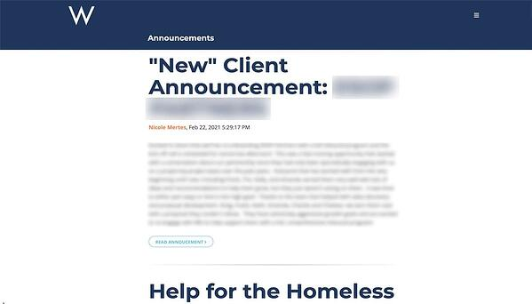 sample-announcements-blog-on-company-intranet
