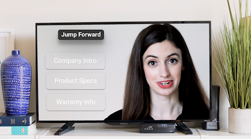 Interactive video example with jump forward buttons