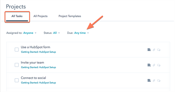 HubSpot Projects for onboarding