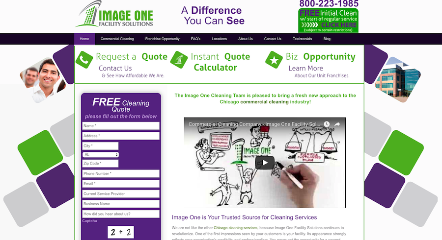 Image One Facility Solutions Screen Shot