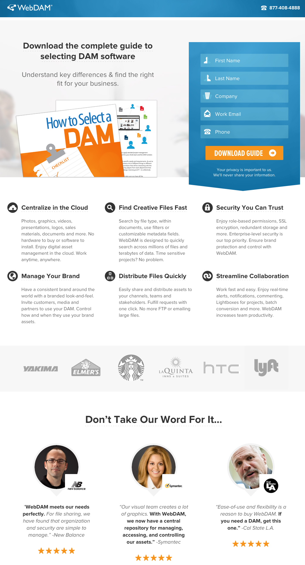 Landing Page Credibility Example