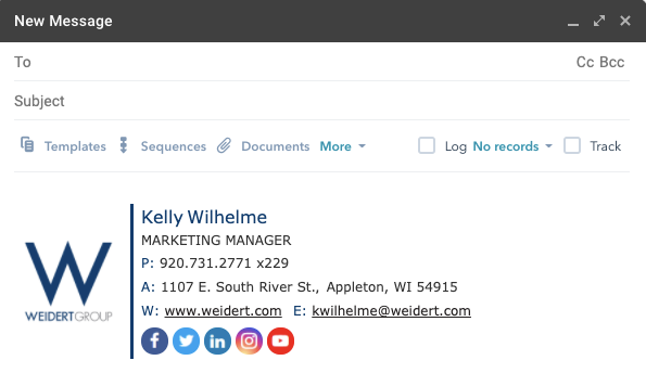 example-email-signature-with-company-social-links
