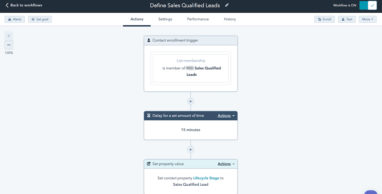 Lead qualification workflow in CRM