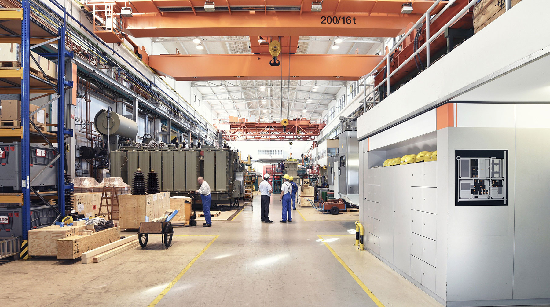 Heavy industrial manufacturing plant